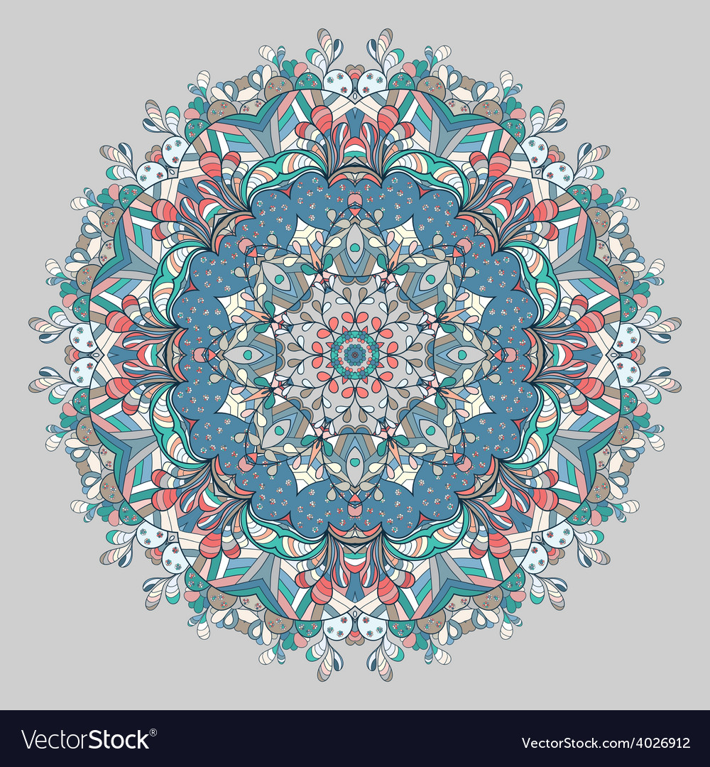 Circle lace organic ornament vector | Price: 1 Credit (USD $1)