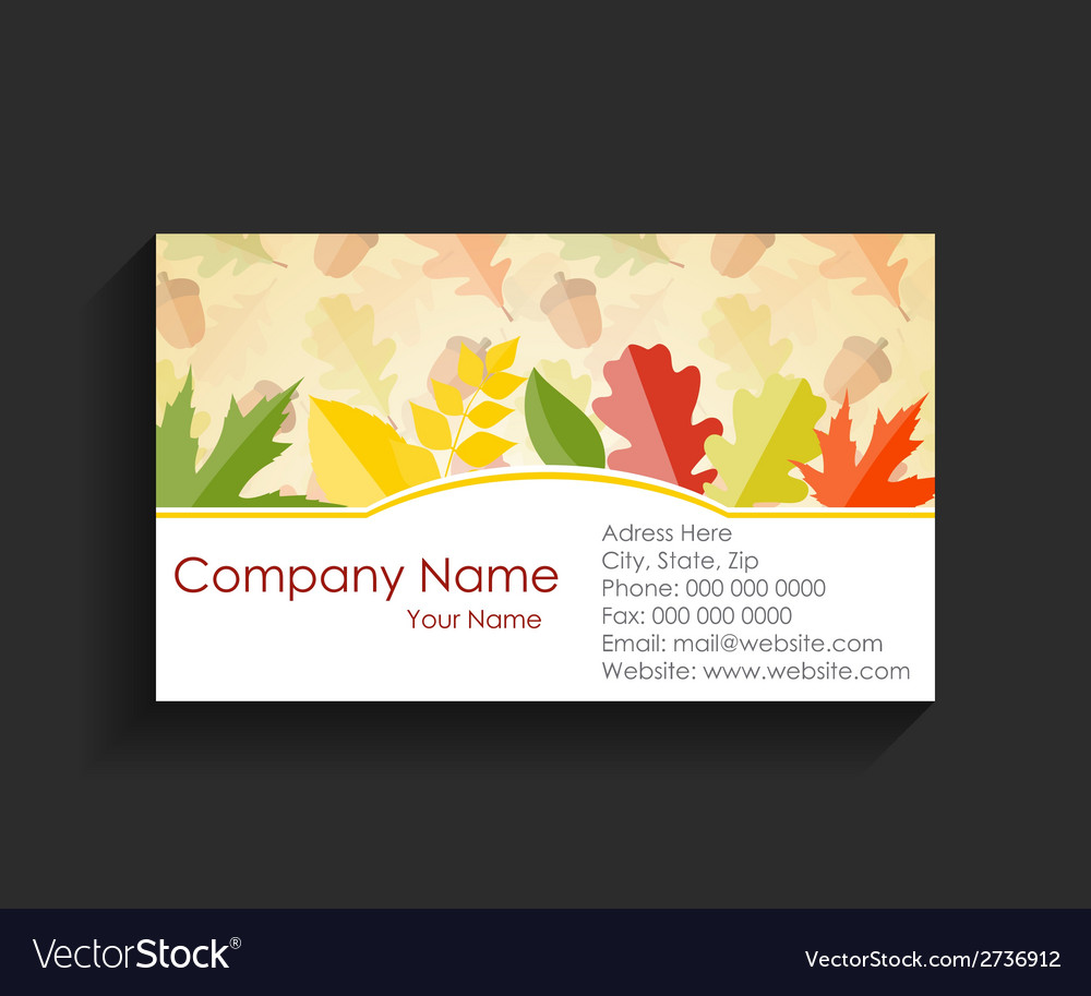 Company business card on black background vector | Price: 1 Credit (USD $1)