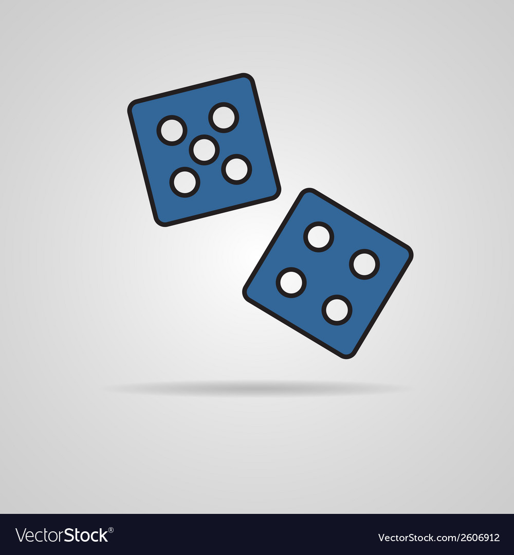 Dices icon vector | Price: 1 Credit (USD $1)