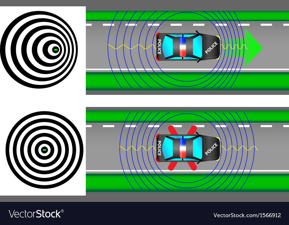 Doppler effect vector | Price: 1 Credit (USD $1)