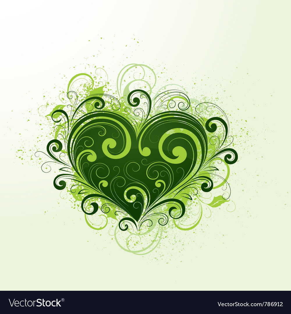 Green heart vector | Price: 1 Credit (USD $1)