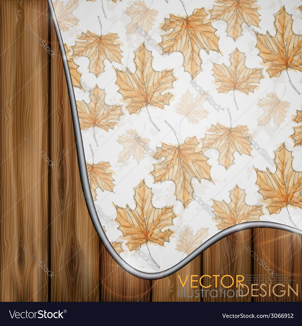 Hand drawn autumn background vector | Price: 1 Credit (USD $1)