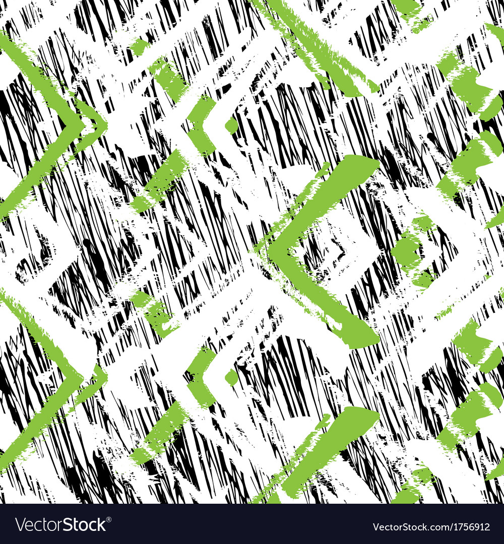 Hand drawn pattern with brushed zigzag line vector | Price: 1 Credit (USD $1)