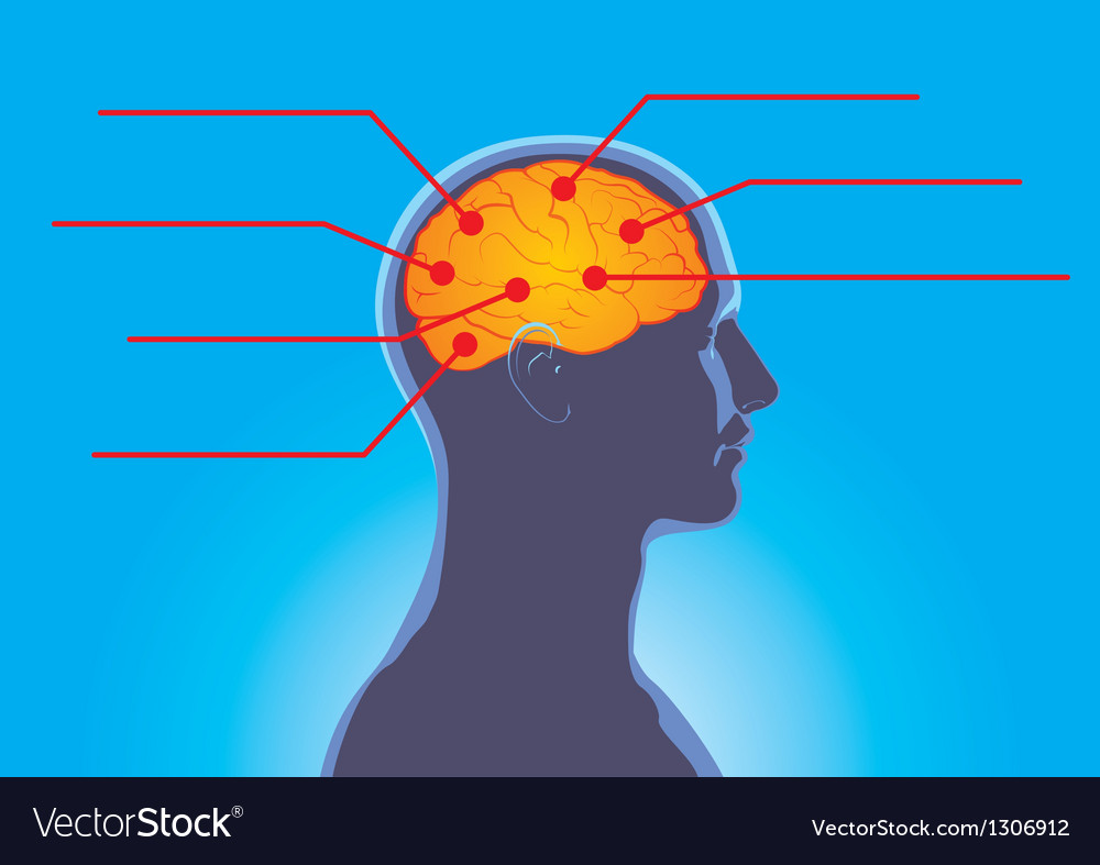 Human thoughts vector