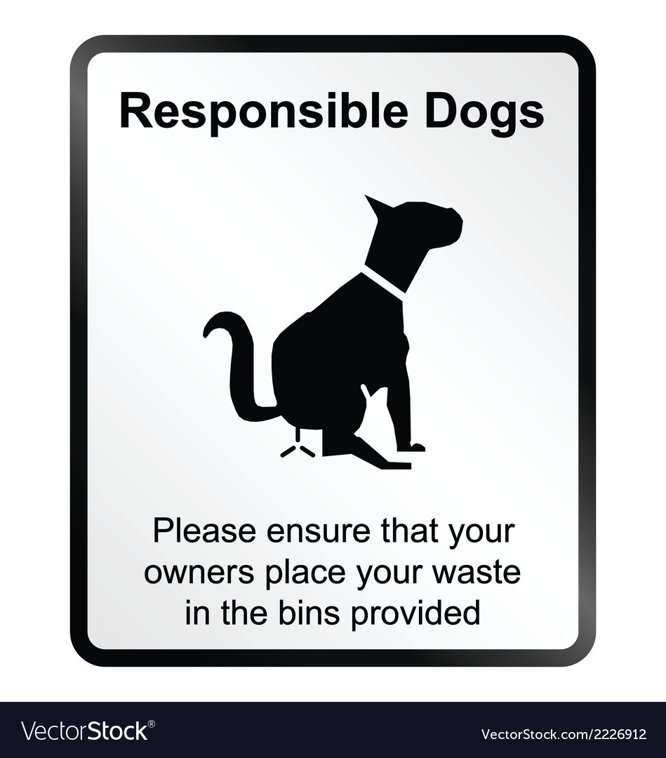 Responsible dogs information sign vector | Price: 1 Credit (USD $1)