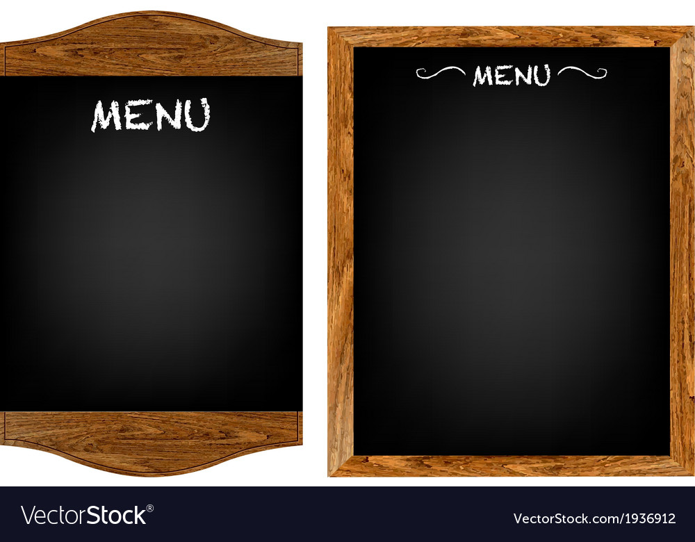 Restaurant menu board set with text vector   Price: 1 Credit (USD $1)