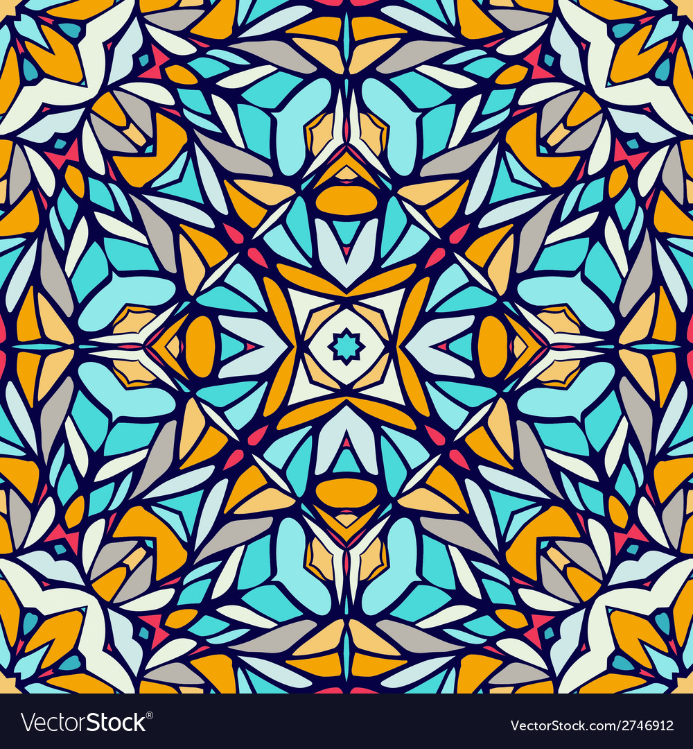 Seamless pattern with decorative ornament vector   Price: 1 Credit (USD $1)