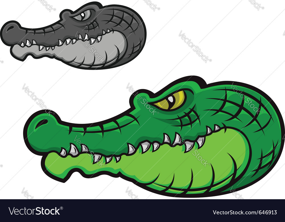 Cartoon crocodile head vector
