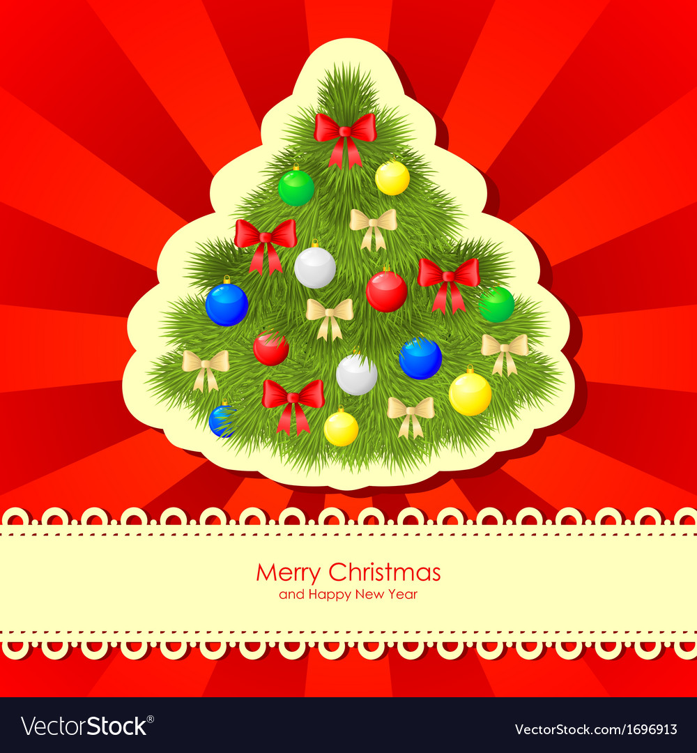 Christmas backgr fir vector | Price: 1 Credit (USD $1)