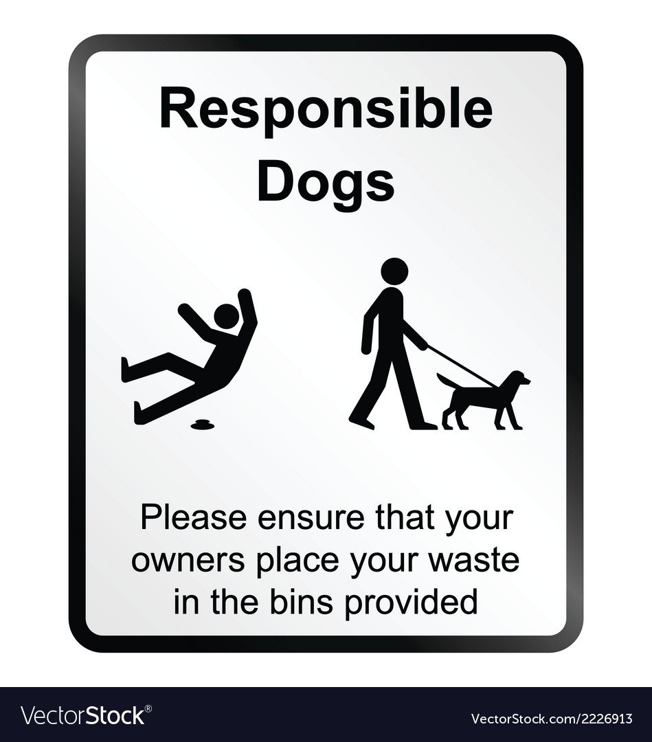 Comical responsible dogs information sign vector | Price: 1 Credit (USD $1)