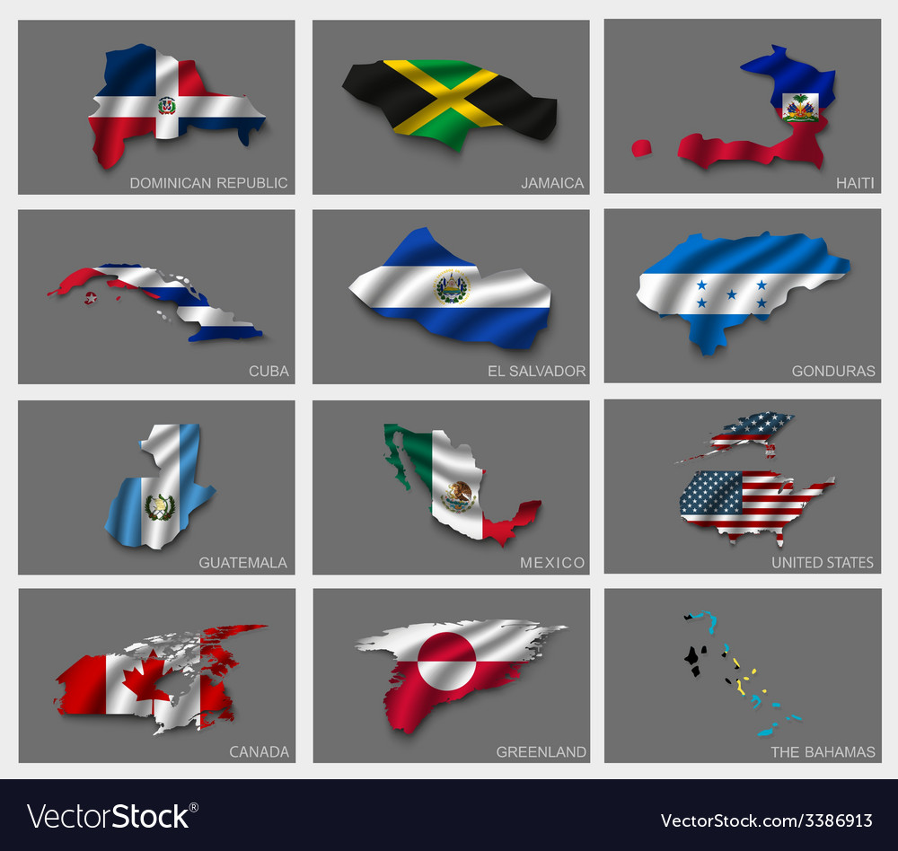 Flags in the form of states vector   Price: 3 Credit (USD $3)
