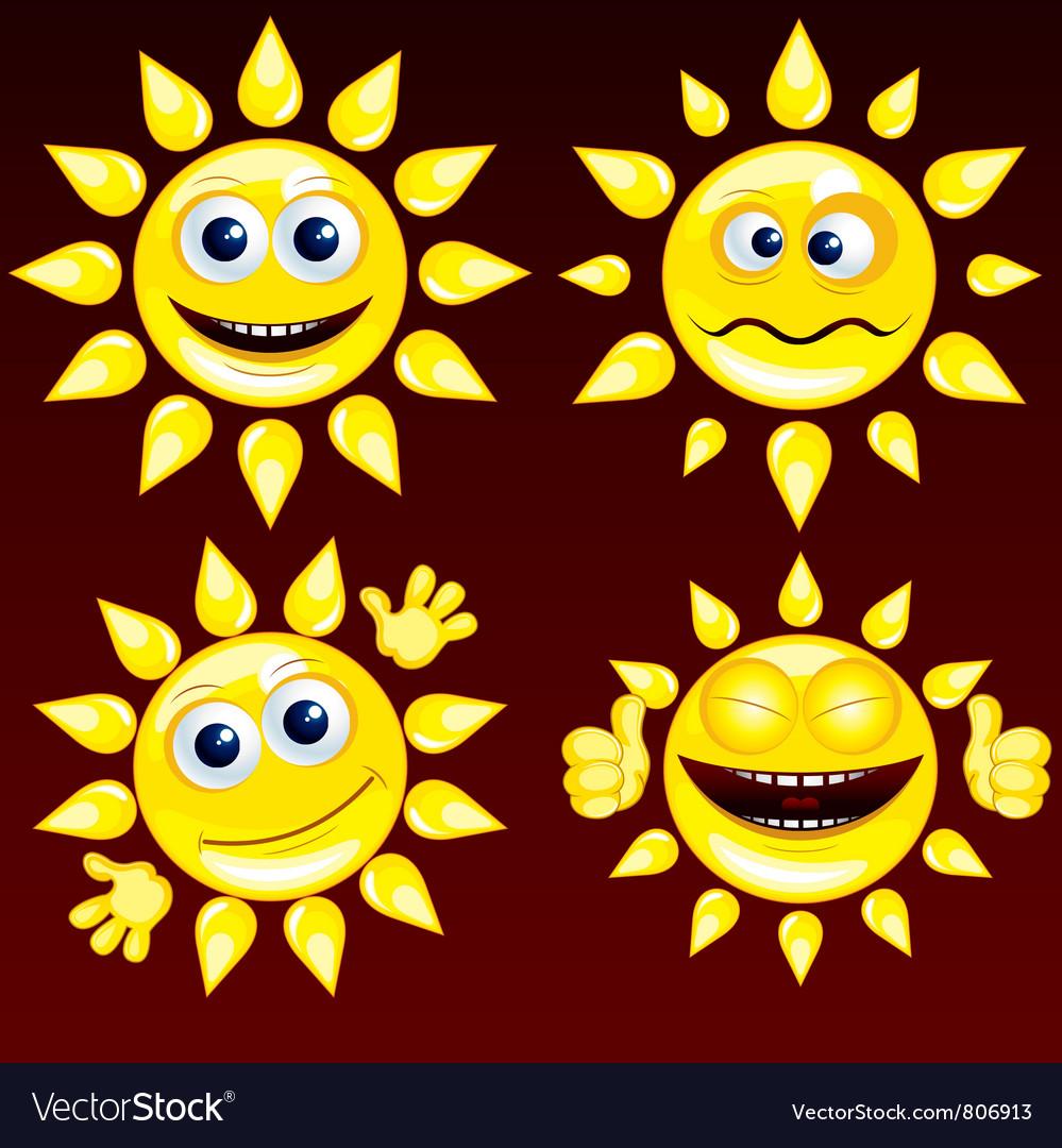 Funny sun vector | Price: 1 Credit (USD $1)