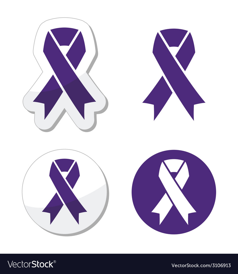Indigo ribbon - bullying stalking awareness vector | Price: 1 Credit (USD $1)