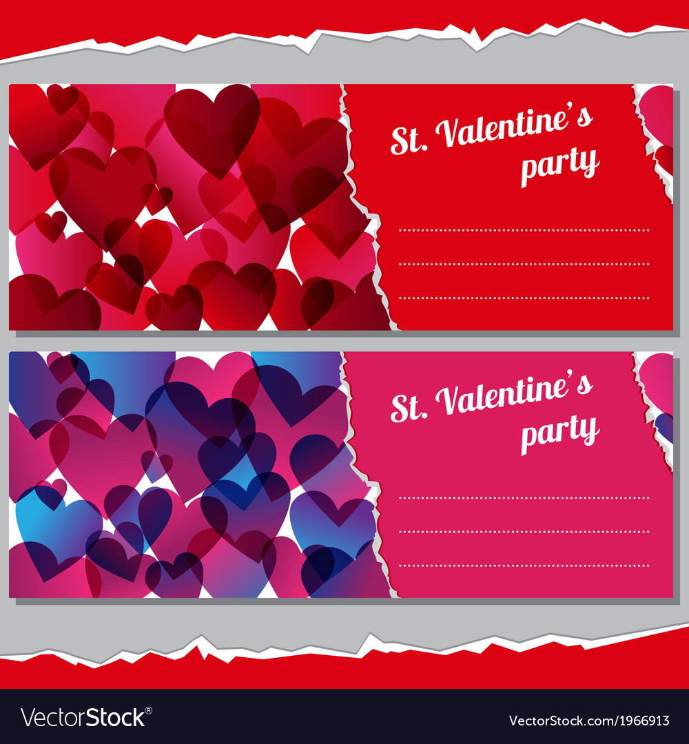 Invitations for valentines days party vector | Price: 1 Credit (USD $1)