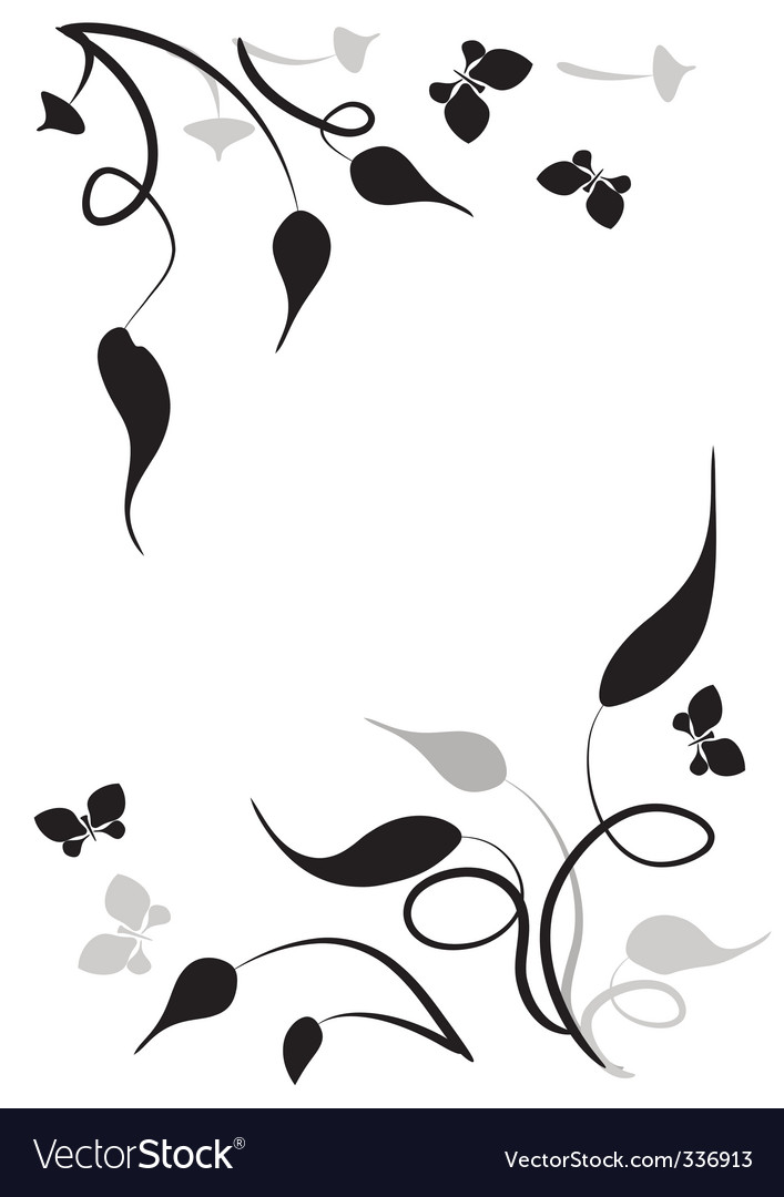 Leaves vignette vector | Price: 1 Credit (USD $1)