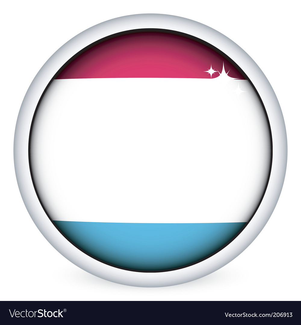 Luxembourg flag button vector | Price: 1 Credit (USD $1)