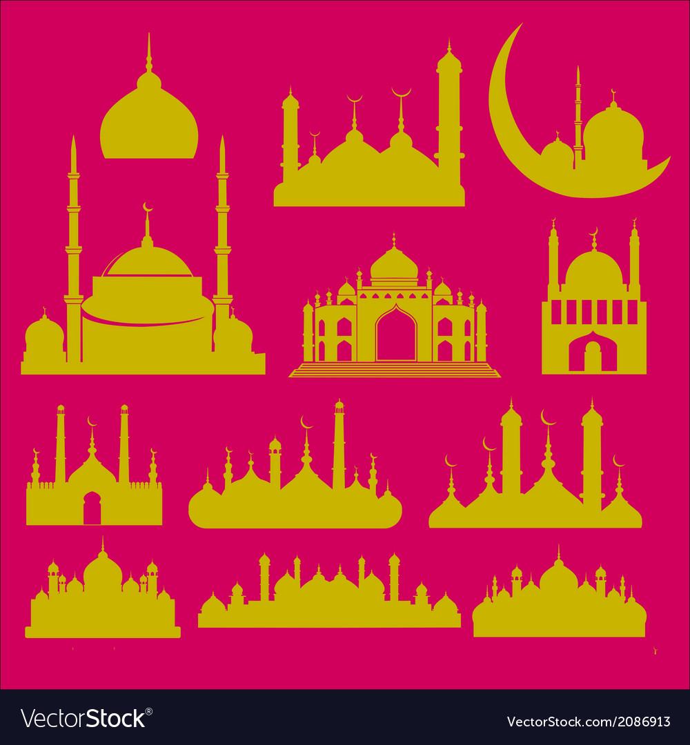 Mosque 2 vector | Price: 1 Credit (USD $1)