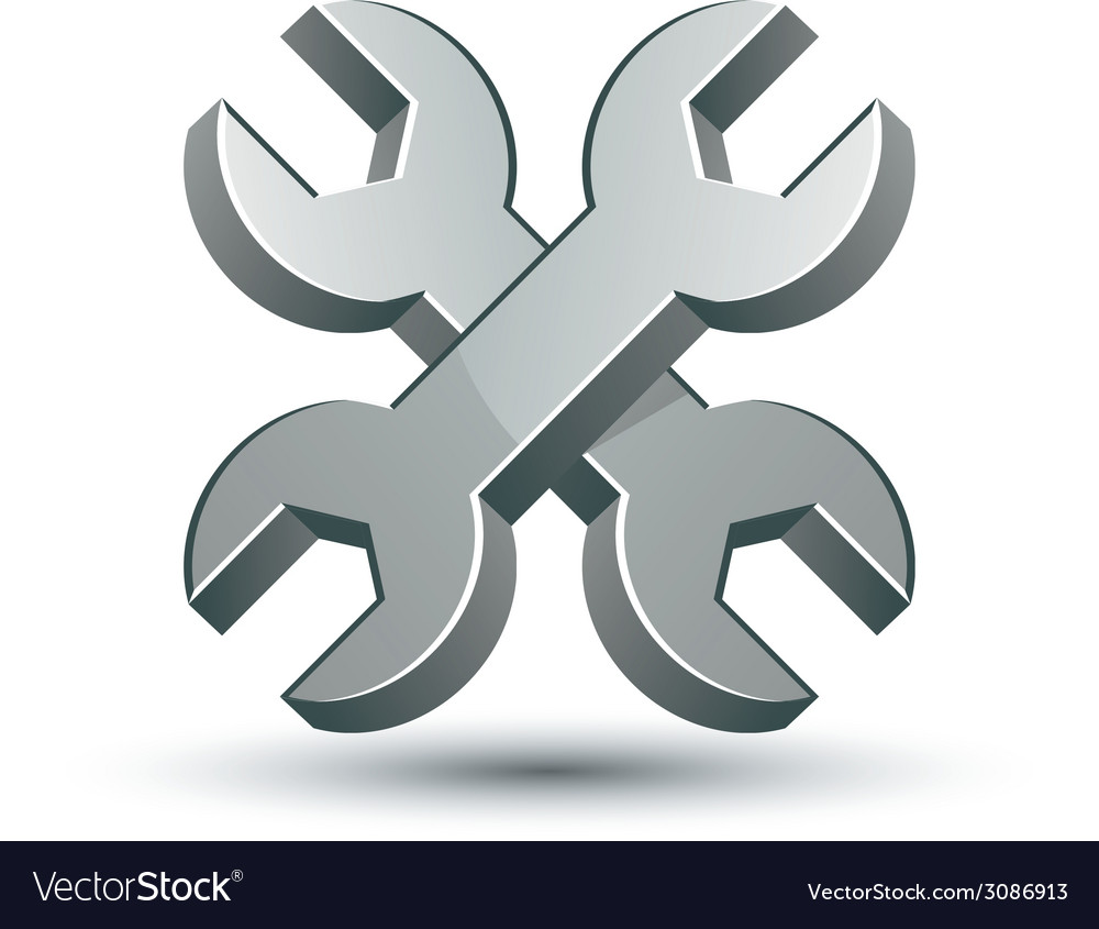 Repair icon with two wrenches vector | Price: 1 Credit (USD $1)