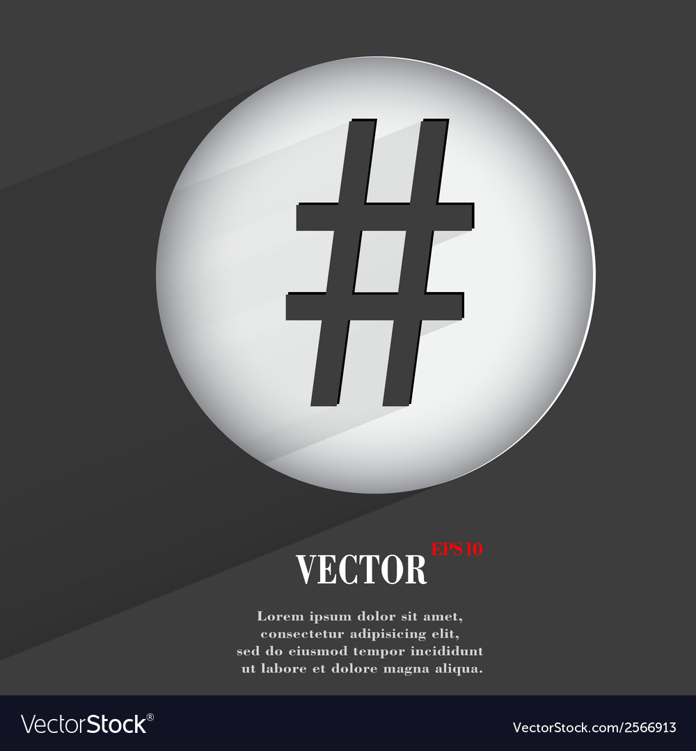 Sharp flat modern web button with long shadow and vector | Price: 1 Credit (USD $1)