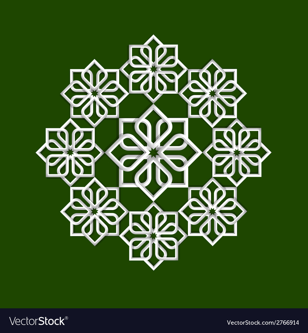 3d flower pattern in arabic style vector | Price: 1 Credit (USD $1)