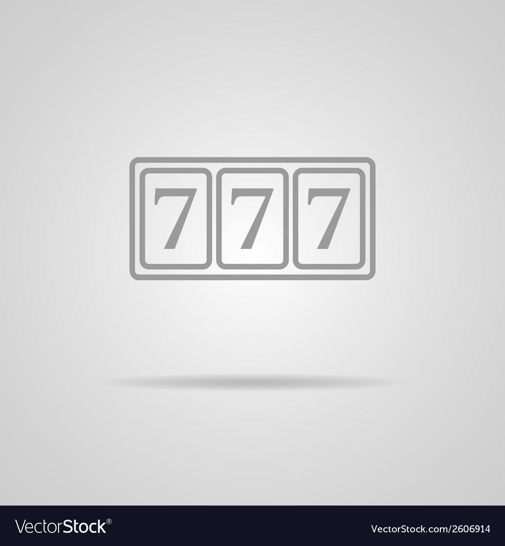 777 icon vector | Price: 1 Credit (USD $1)
