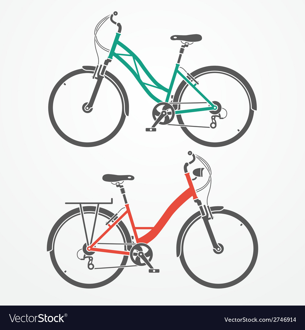 City bicycles vector | Price: 1 Credit (USD $1)