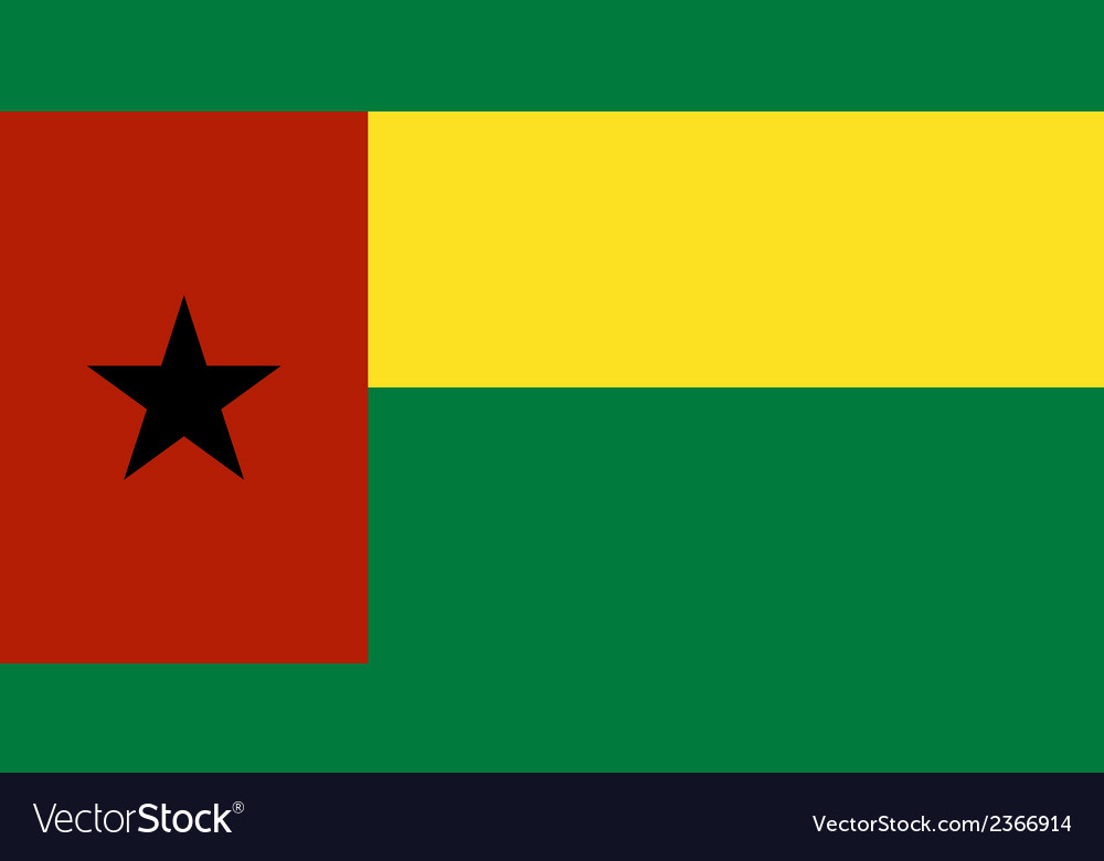 Flag of guinea bissau vector | Price: 1 Credit (USD $1)