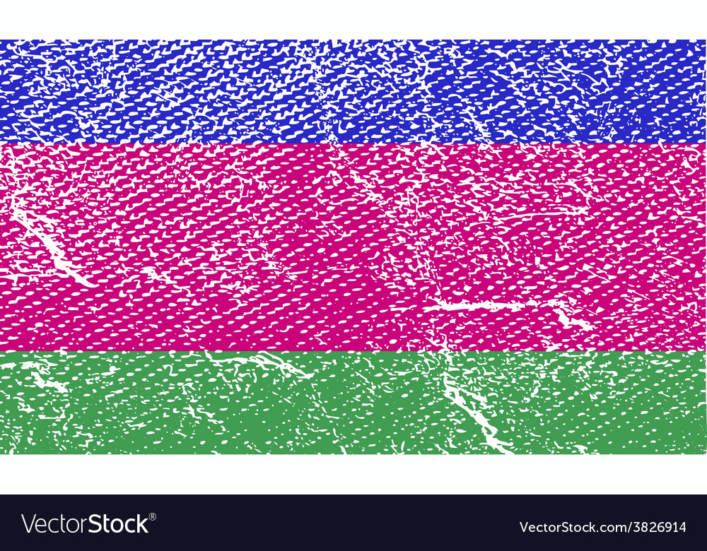 Flag of kuban peoples republic with old texture vector | Price: 1 Credit (USD $1)