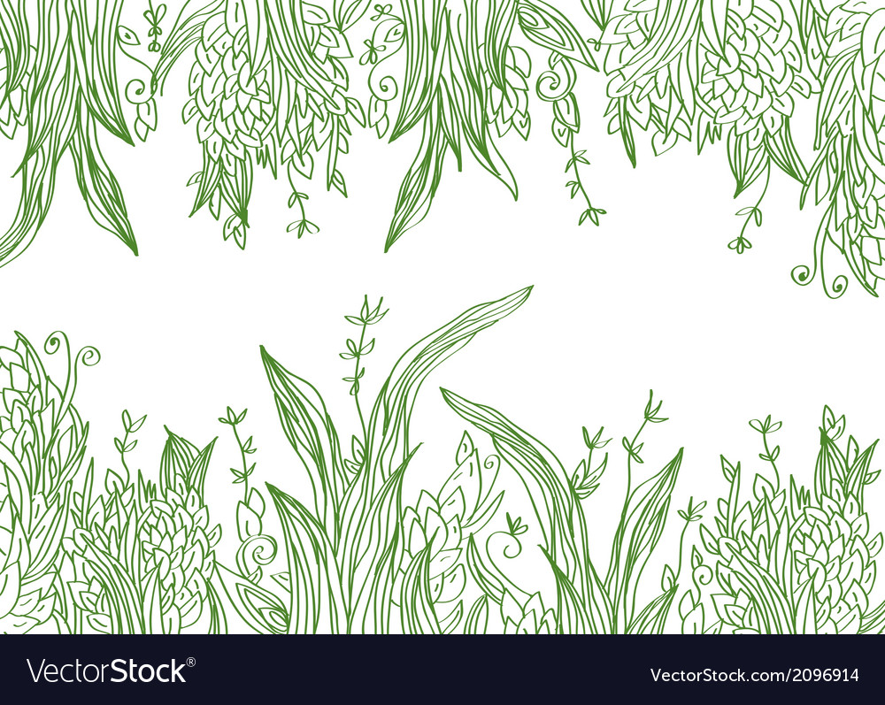 Grass banner artistic vector | Price: 1 Credit (USD $1)