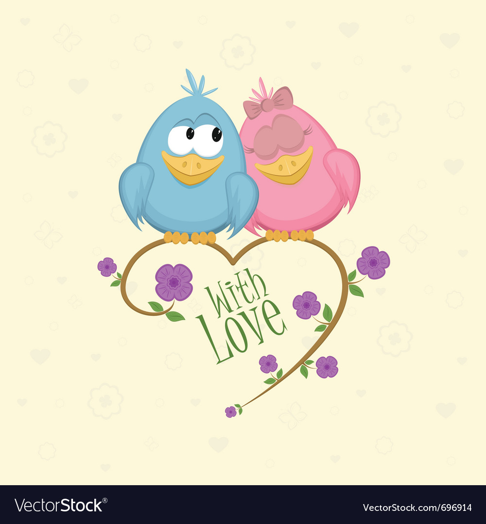 Love birds vector | Price: 3 Credit (USD $3)