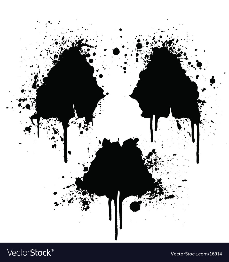 Radioactive symbol ink splatter vector | Price: 1 Credit (USD $1)