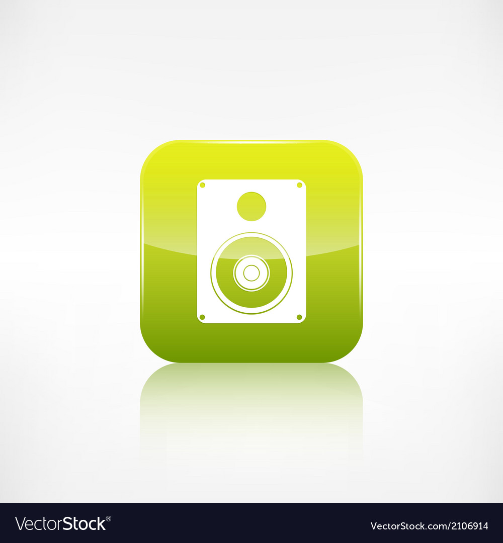 Subwoofer web icon application button vector | Price: 1 Credit (USD $1)