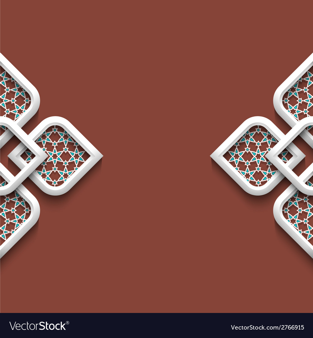 3d ornament in arabic style vector | Price: 1 Credit (USD $1)
