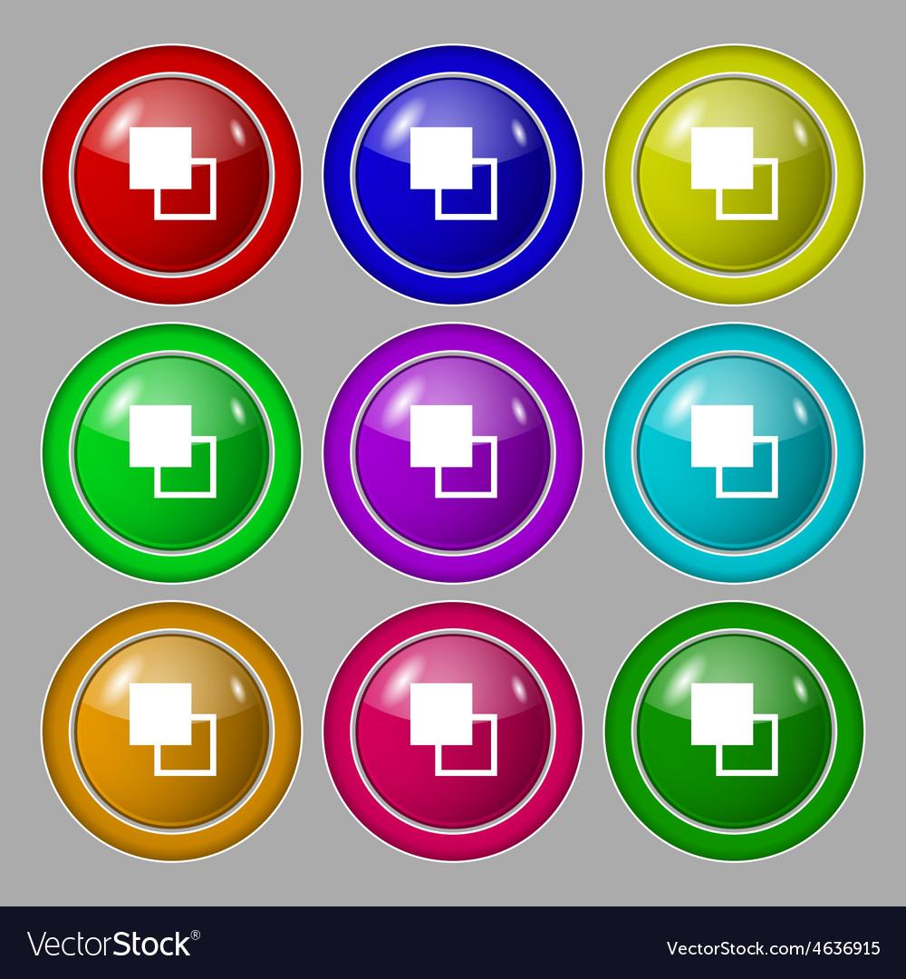 Active color toolbar icon sign symbol on nine vector | Price: 1 Credit (USD $1)