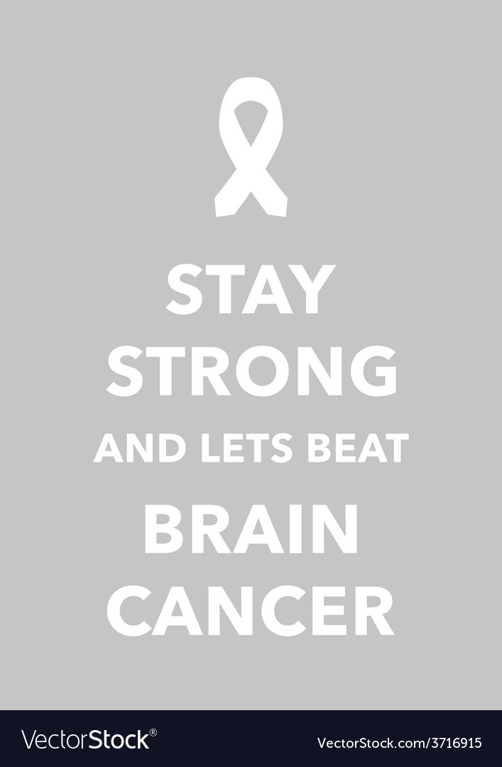 Brain cancer poster vector | Price: 1 Credit (USD $1)