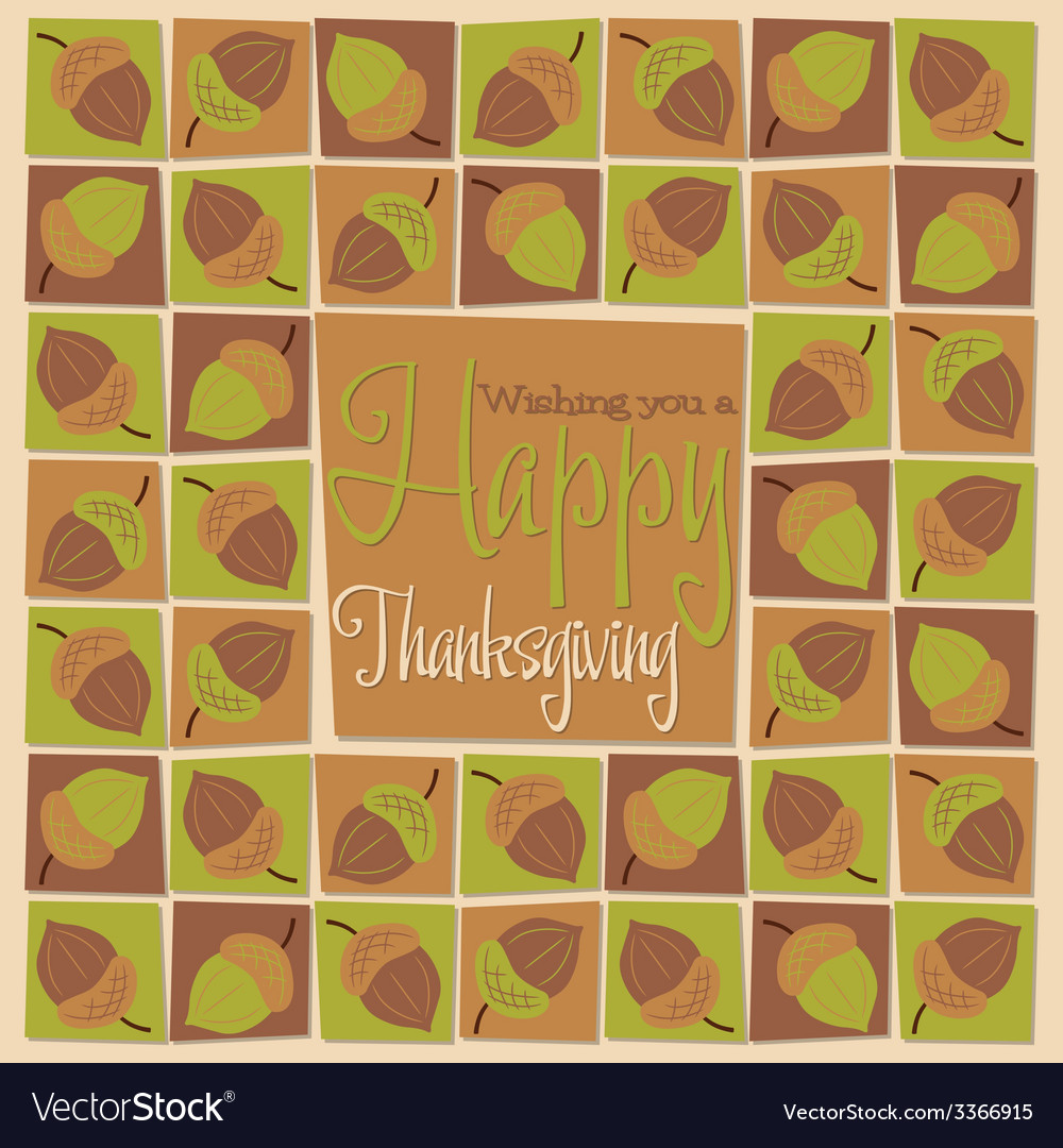 Bright mosaic thanksgiving card in format vector | Price: 1 Credit (USD $1)