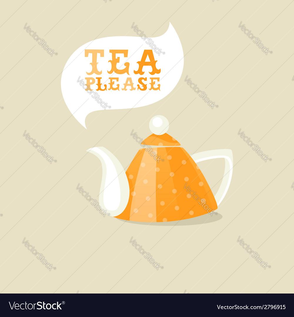 Cartoon teapot vector | Price: 1 Credit (USD $1)