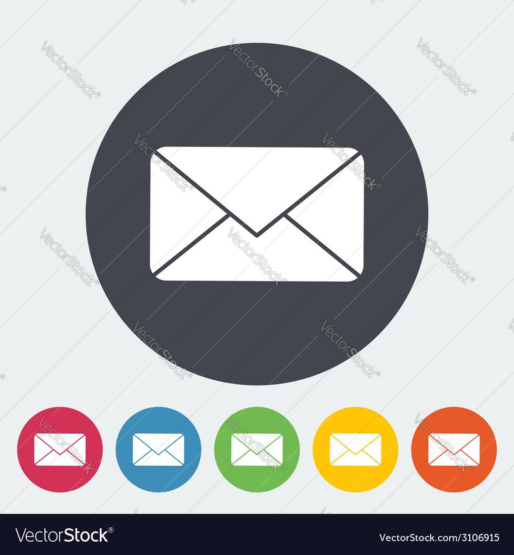 Envelope flat icon vector | Price: 1 Credit (USD $1)