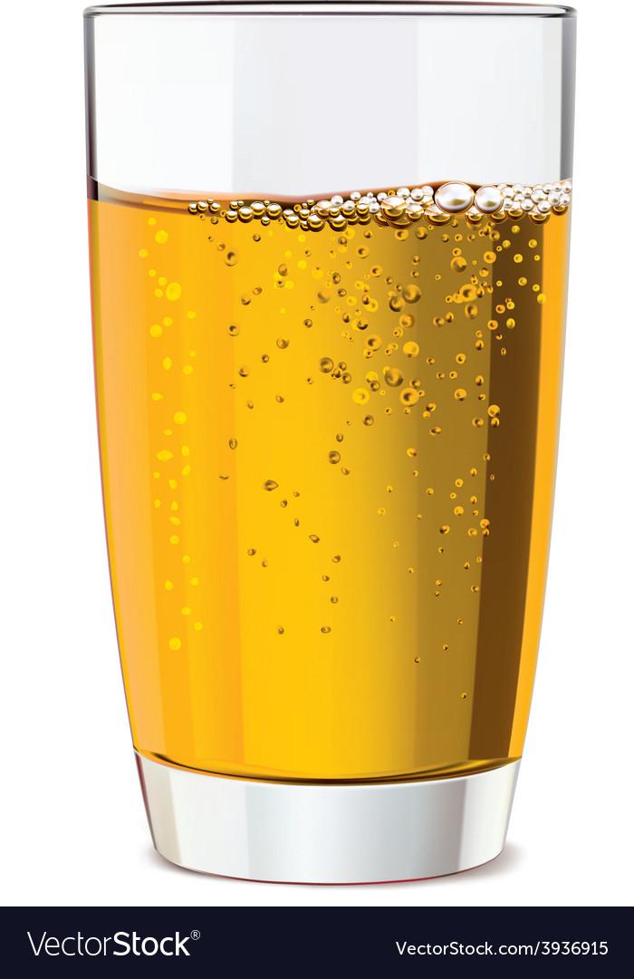 Glass of yellow juice vector | Price: 1 Credit (USD $1)