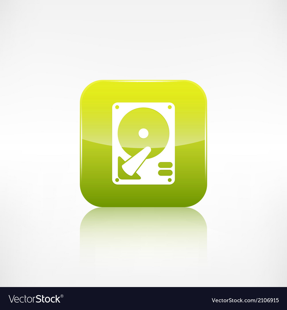 Hard disc icon application button vector | Price: 1 Credit (USD $1)