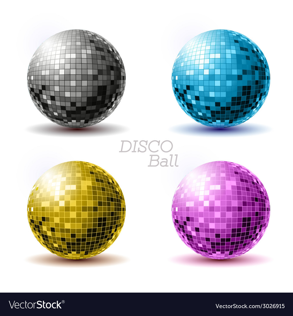 Set of disco balls vector | Price: 1 Credit (USD $1)