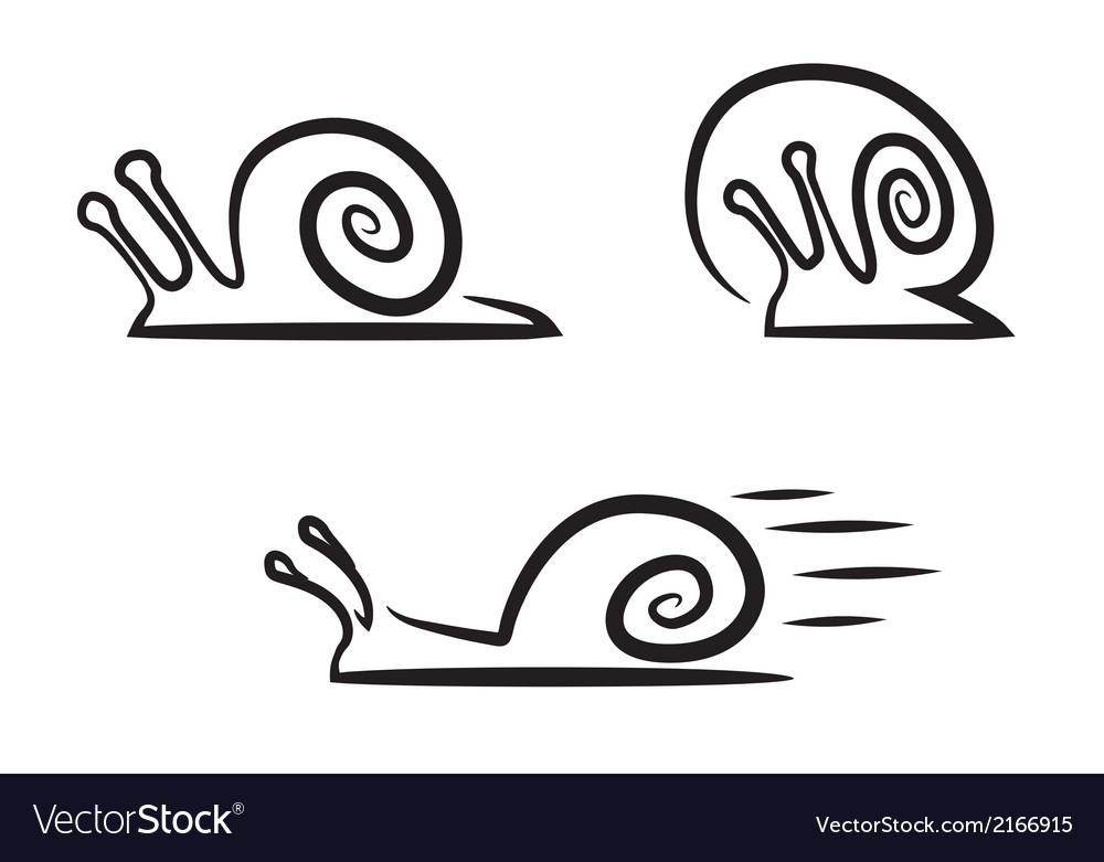 Stylized snails vector | Price: 1 Credit (USD $1)