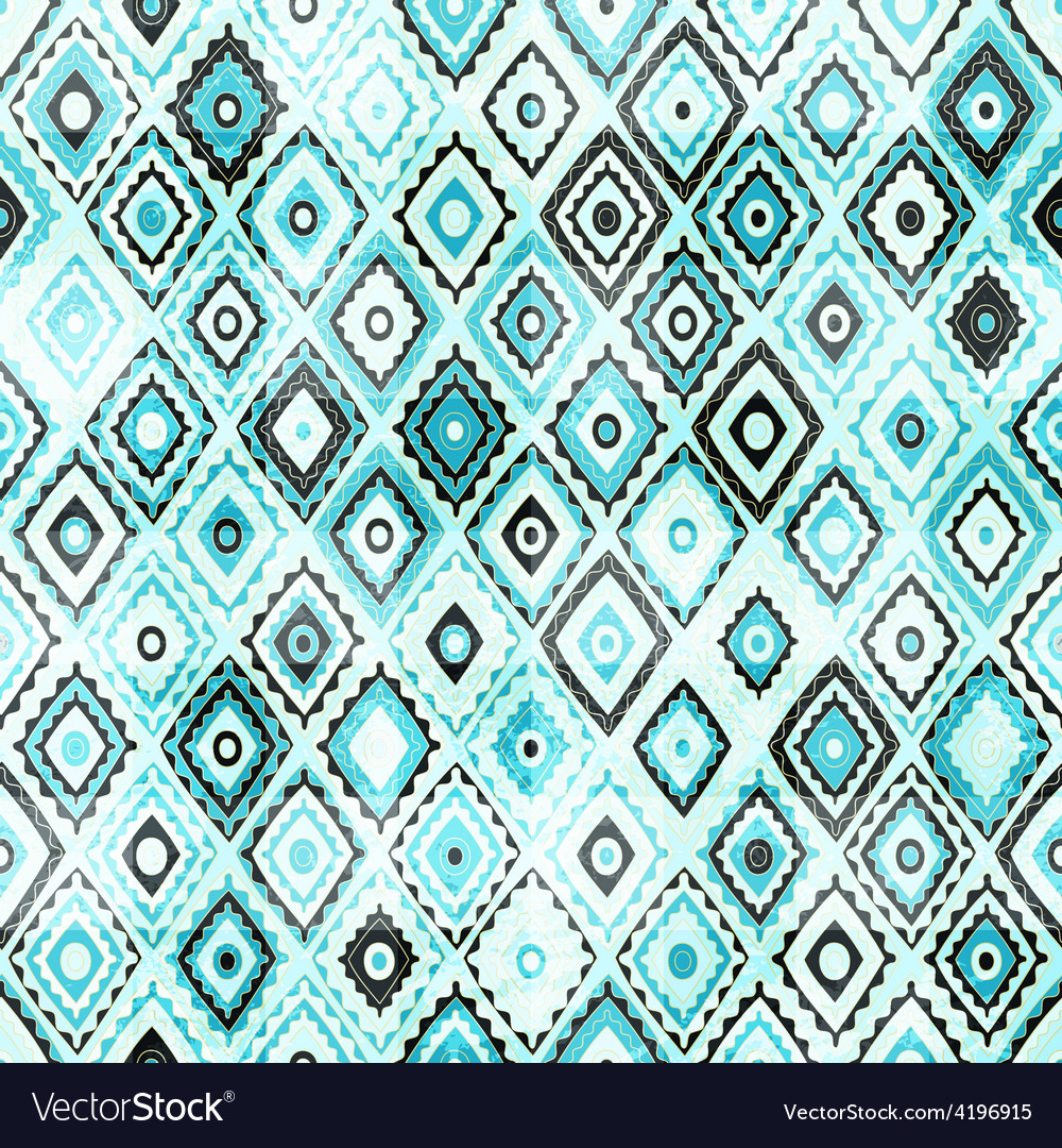 Vintage mosaic seamless with grunge effect vector | Price: 1 Credit (USD $1)