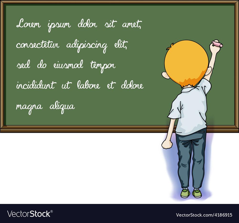 Write on blackboard vector | Price: 1 Credit (USD $1)