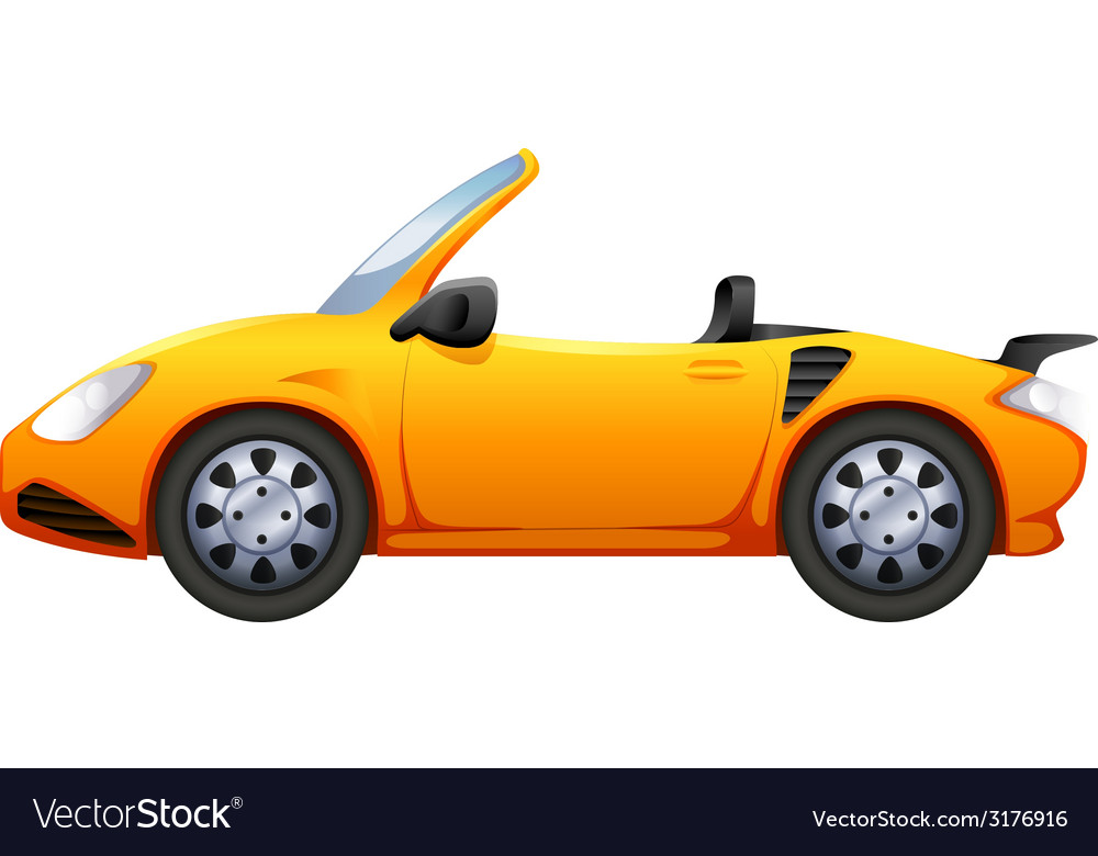 A yellow sports car vector | Price: 1 Credit (USD $1)
