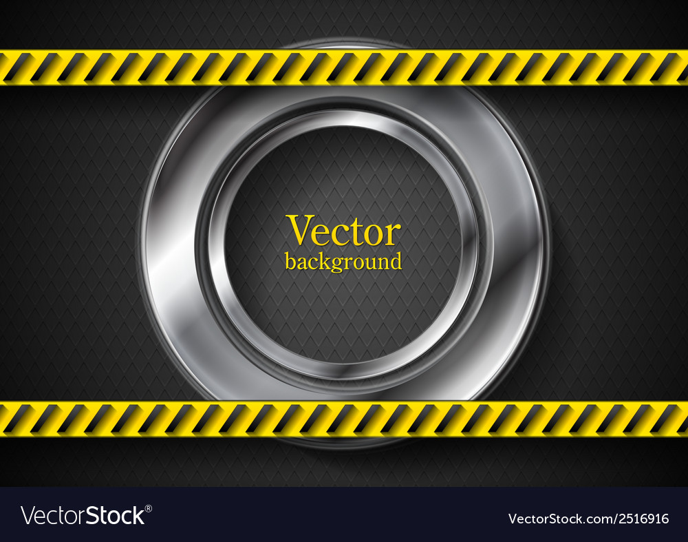 Abstract tech background with danger tape vector | Price: 1 Credit (USD $1)