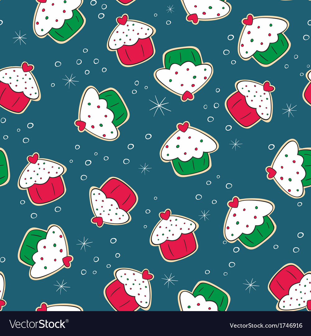 Christmas gingerbread cookies with cakes green and vector | Price: 1 Credit (USD $1)
