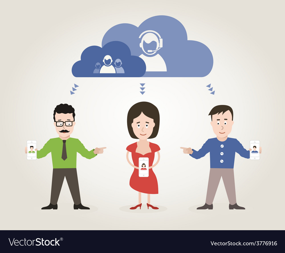 Communication people vector | Price: 1 Credit (USD $1)