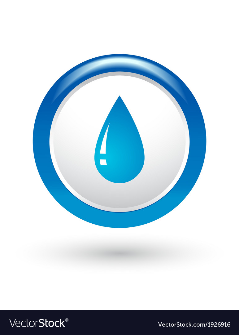 Glossy water drop vector | Price: 1 Credit (USD $1)