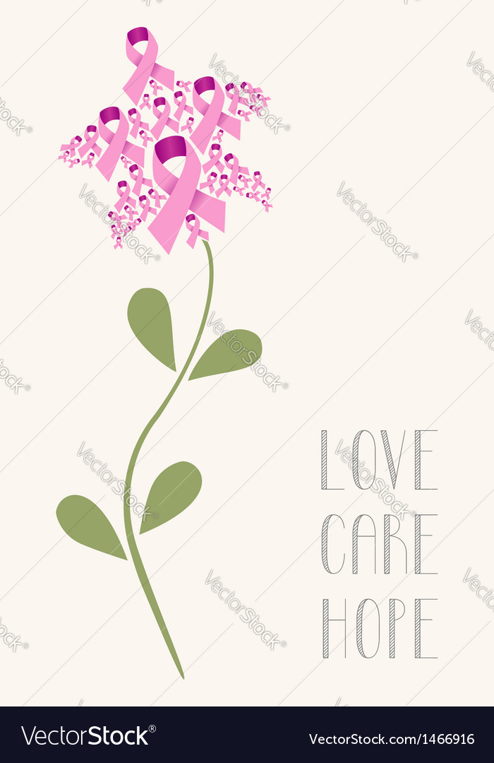 Love care hope flower concept vector | Price: 1 Credit (USD $1)